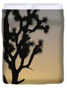 Silhouetted Joshua Tree In Antelope Duvet Cover