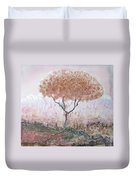 Silk Tree In Brown And Purple  Duvet Cover