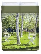 Silver Birches Duvet Cover by Lucy Willis