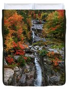Silver Cascades Surrounded By Colors Duvet Cover