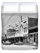 Silver City New Mexico Duvet Cover