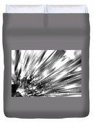 Silver Explosion Duvet Cover