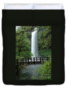 Silver Falls 2 In Oregon Duvet Cover