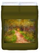 Simple Pathways Duvet Cover