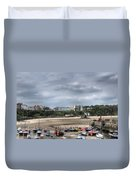 Simply North Beach From Tenby Harbour Duvet Cover
