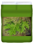 Simply Summer Maple Leaves Duvet Cover