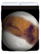 Simulated View Of Mars Duvet Cover