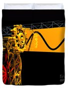 Sine Wave Machine Landscape 2 Duvet Cover
