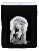 Singer And Actress Tina Turner  Duvet Cover