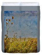 Singing In The Grass Duvet Cover