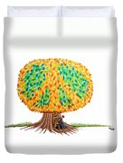 Singing Under The Peace Tree Duvet Cover