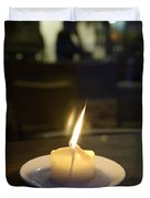 Single Candle Flame, Defocussed Duvet Cover