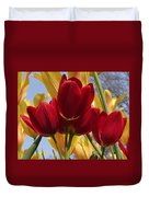 Single Late Red Georgette Duvet Cover