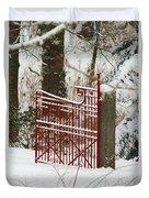 Single Red Gate Duvet Cover