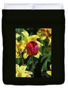 Single Red Tulip Duvet Cover