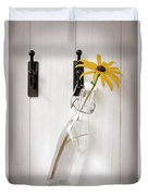 Single Rudbeckia Flower Duvet Cover by Amanda Elwell