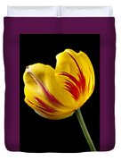 Single Yellow And Red Tulip Duvet Cover