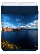 Sinott Crater Lake View Duvet Cover