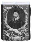 Sir Francis Drake, English Explorer Duvet Cover by Photo Researchers, Inc.