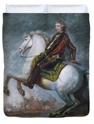 Sir Jeffrey Amherst Duvet Cover by Sir Joshua Reynolds