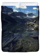 Sitting Along The Sheep River Duvet Cover