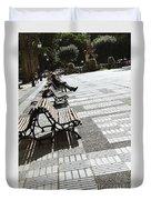 Sitting In The Park - Madrid Duvet Cover
