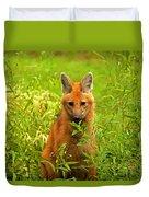 Sitting Wolf Duvet Cover