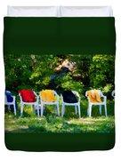 Six Summer Chairs Duvet Cover