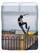 Skateboarding Ix Duvet Cover