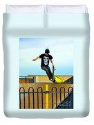 Skateboarding Xi Duvet Cover
