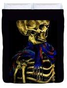 Skeleton Fashion Victim Duvet Cover