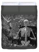 Skeleton In My Closet Duvet Cover