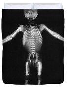 Skeleton Of A Baby Duvet Cover
