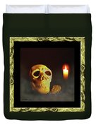 Skull And Candle Duvet Cover