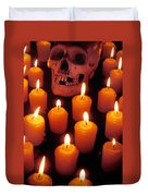Skull And Candles Duvet Cover
