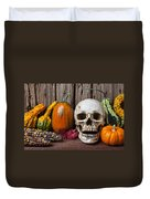 Skull And Gourds Duvet Cover