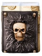 Skull Box With Skeleton Key Duvet Cover
