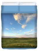 Sky At Sunset, Grasslands National Duvet Cover
