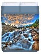 Sky Blue Falls Duvet Cover