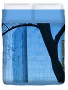 Sky Scraper Tall Building Abstract With Windows Tree And Reflections No.0066 Duvet Cover