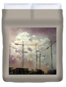 Sky With Clouds Duvet Cover