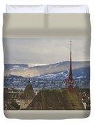 Skyline Of Zurich From The University Duvet Cover