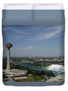 Skylone Tower And Niagara Falls Duvet Cover