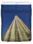Skyward View Of A Saguaro Cactus Duvet Cover