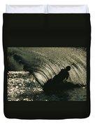 Slalom Waterskier Silhouette Duvet Cover