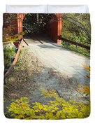 Slaughter House Bridge And Fall Colors Duvet Cover