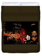 Slc Temple Nativity Pond Duvet Cover
