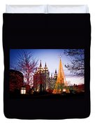 Slc Temple Tree Light Duvet Cover