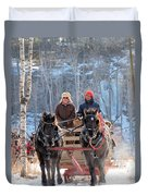 Sleigh Ride In The Frontenac Axis Duvet Cover