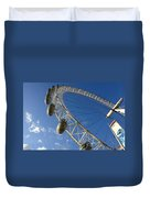 Slice Of The Wheel Of London Eye From An Angle Duvet Cover